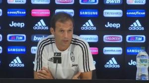 """Juve, parla Allegri prima del Palermo: """"Domani riposa Chiellini. In attacco..."""""""