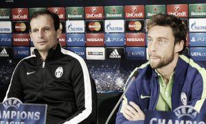 """Allegri in conferenza stampa: """"Pensiamo solo a lavorare bene"""" Marchisio: """"Nessuna paura, solo entusiasmo"""""""