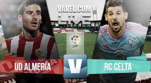 Resultado Almería vs Celta de Vigo en la Liga BBVA 2015 (2-2)