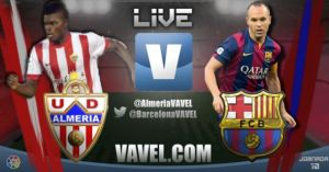 Live Liga BBVA : le match Almeria vs FC Barcelone en direct