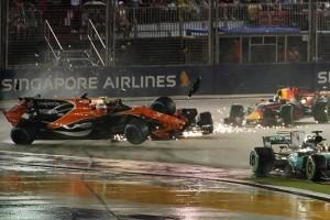 Gp Singapore, una gara a due facce per la McLaren: le dichiarazioni di Alonso e Vandoorne