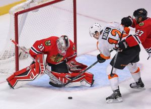 Chicago Downs The Flyers; Raanta Picks Up The Win