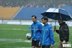 El Cádiz-Real Jaén quedó suspendido por la lluvia