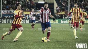 Fotos e imágenes del Atlético de Madrid - Barcelona de la decimonovena jornada de Liga BBVA
