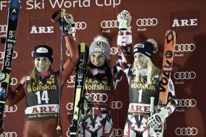 Nadia Fanchini è gigante nel trionfo di Anna Fenninger