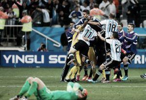 Los jugadores argentinos, eufóricos