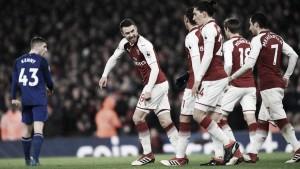 El Arsenal golea al Everton