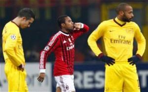 Gunners shot down by ruthless AC Milan