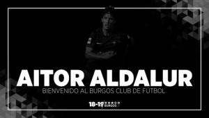 Aitor Aldalur se convierte en nuevo jugador del Burgos CF