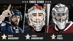 Kucherov lidera a las estrellas de la semana