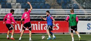 El Madrid continúa ejercitándose para su visita a San Mamés