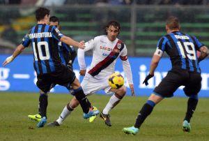 All'Atalanta basta Bonaventura, il Cagliari sbatte contro i pali