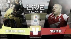 Resultado Atlético Huila vs Independiente Santa Fe en vivo (2-2)