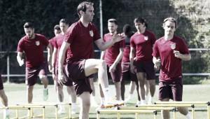 El Atlético recupera a tres jugadores