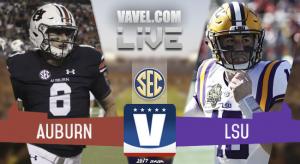 Score Auburn Tigers vs LSU Tigers of 2017 SEC Football (23-27)