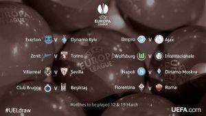 CONFIRMED: UEFA Europa League Last 16 ties