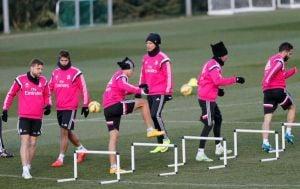 El Madrid ya prepara el derbi frente al Atleti