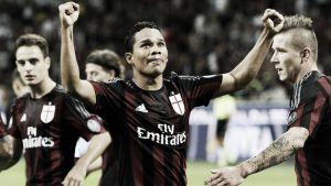 Il Milan torna alla vittoria con un grande Bacca, è 3-2