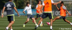 Bale vuelve a entrenar con el grupo