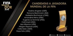 Las diez candidatas al Balón de Oro 2015