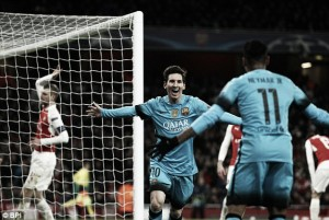 Arsenal 0-2 Barcelona: Messi double shoots down Gunners