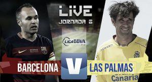 Resultado Barcelona vs Las Palmas en la Liga BBVA 2015 (2-1)