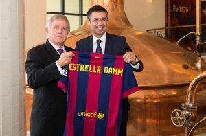Barça y Estrella Damm amplían su acuerdo hasta el 2018