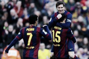 La fiesta de Messi en el Camp Nou