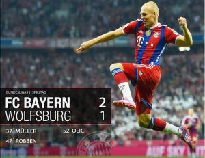 Bundesliga, il Bayern riprende dove aveva lasciato : 2-1 al Wolfsburg