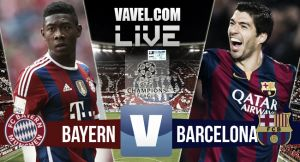 Score Bayern Munich vs Barcelona in UEFA Champions League 2015 (3-2)