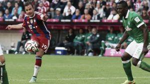 Resultado Werder Bremen vs Bayern de Múnich (0-4) en Bundesliga 2015