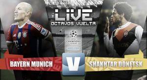 Resultado Bayern de Múnich vs Shakhtar Donetsk (7-0 en Champions League 2015