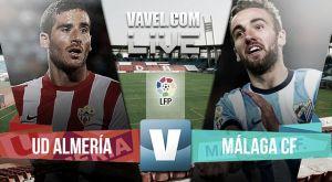 Resultado Almería vs Málaga en la Liga BBVA 2015 (1-2)
