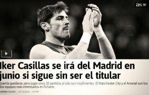 Casillas pourrait rejoindre l'Angleterre