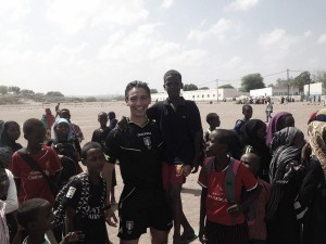 Dalla Calabria al Gibuti, un arbitro italiano nella partita contro la guerra