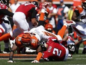 La defensa de Cincinnati fue demasiado para Atlanta