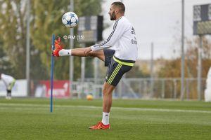 James, Pepe, Benzema y Arbeloa comparecen en el entrenamiento