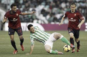 El Osasuna-Betis se jugará el domingo 18 a las 19:00 horas