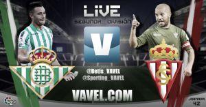 Resultado Real Betis - Sporting en Segunda 2015 (0-3)