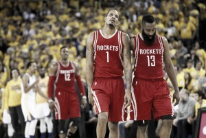 Houston Rockets fall to Stephen Curry-less Golden State Warriors in Game 2, 106-115