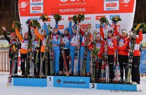 Biathlon: a Ruhpolding la Russia conquista la staffetta femminile