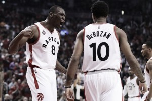 DeMar DeRozan, Bismack Biyombo all business in re-signing with the Toronto Raptors