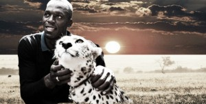 Usain Bolt, la escena de la presa y el depredador