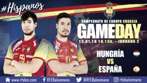 Resumen Hungría vs España (25-27) en EHF EURO 2018