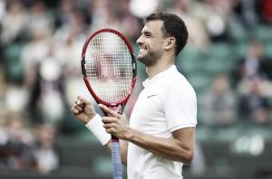 Wimbledon: Grigor Dimitrov overcomes Gilles Simon in four sets