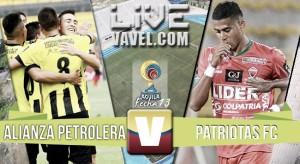 Resultado final: Alianza Petrolera - Patriotas de Boyacá en la Liga Águila 2016-I (0-1)