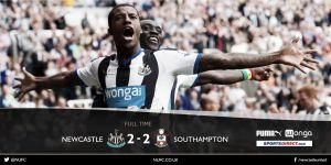 Vértigo y reparto final entre Newcastle y Southampton