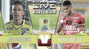 Resultado Millonarios vs Patriotas por la Liga Águila 2016 (3-0)