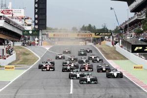 Alineación de pilotos para los test de Barcelona