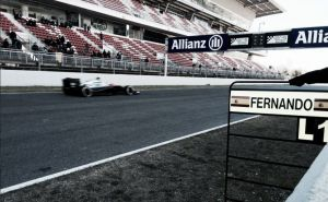 Test Barcellona, incidente per Alonso